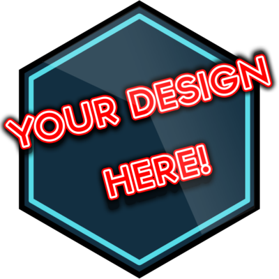 your design here - buy a virtual badge